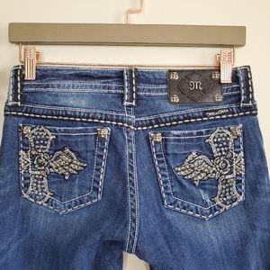 Miss Me Boot Bootcut Cross Bling JP5095-3 Jeans 27